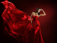 woman in red sajt